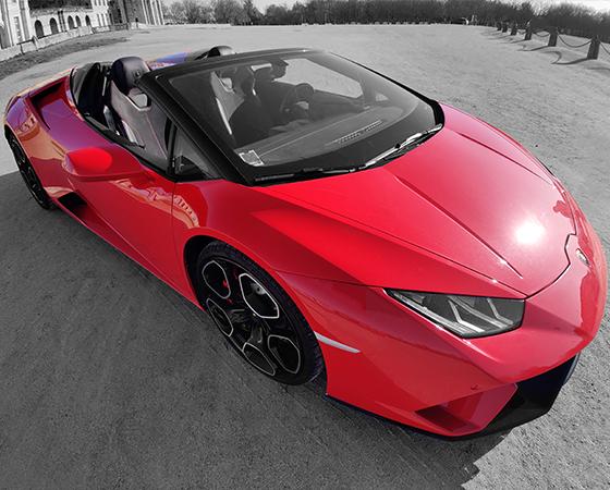 Lamborghini Huracan Spyder, à louer chez Prestige and Luxury